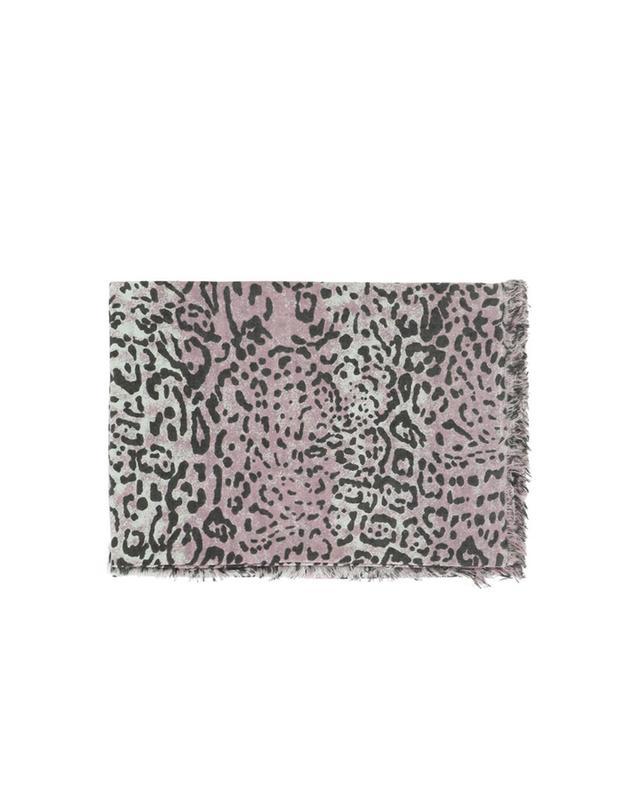 Leopard print cashmere scarf HEMISPHERE