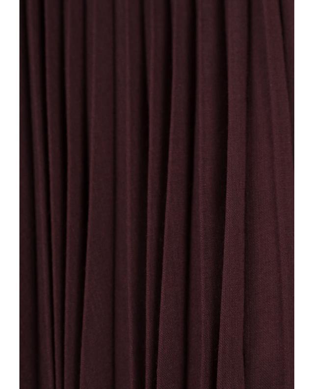 Jupe plissée midi en laine mélangée AKRIS PUNTO
