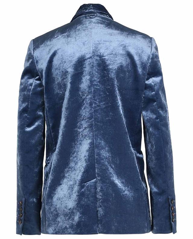 Blazer aus Samt mit Schalkragen und Kettendetails BRUNELLO CUCINELLI