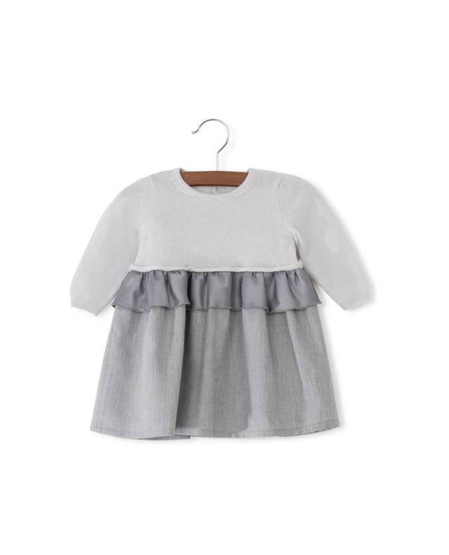 Bi-material dress PER TE