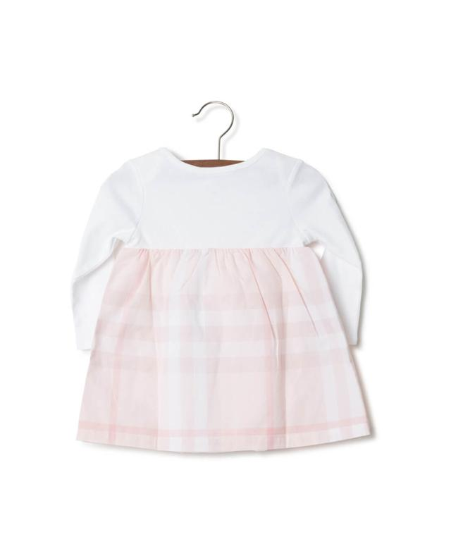Cotton dress with integrated bodysuit BURBERRY