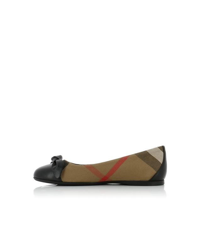 Yaxley fabric and leather ballet flats BURBERRY