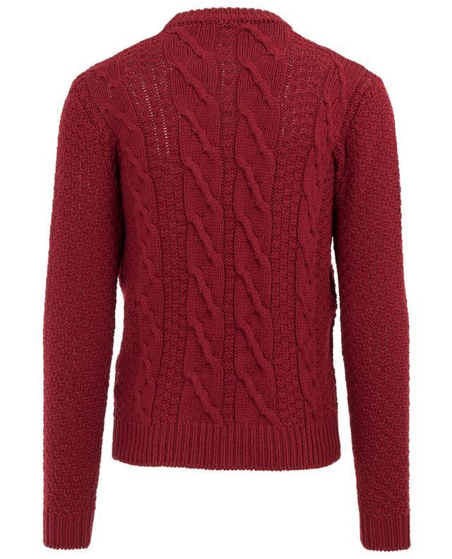 Merino wool cable knit jumper FILIPPO DE LAURENTIS