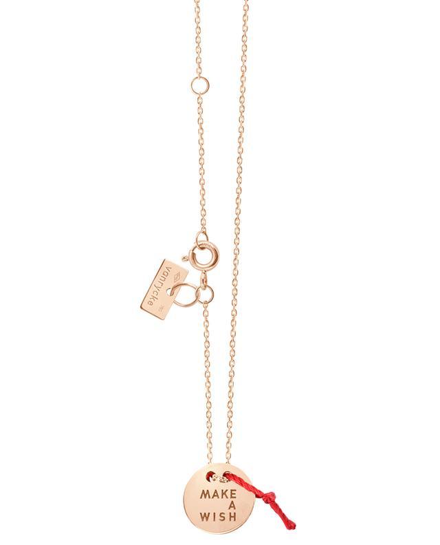 Halskette aus Roségold Make a wish VANRYCKE
