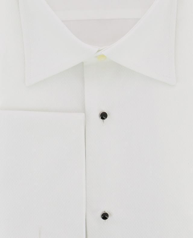 Chemise gaufrée en coton Delft ARTIGIANO
