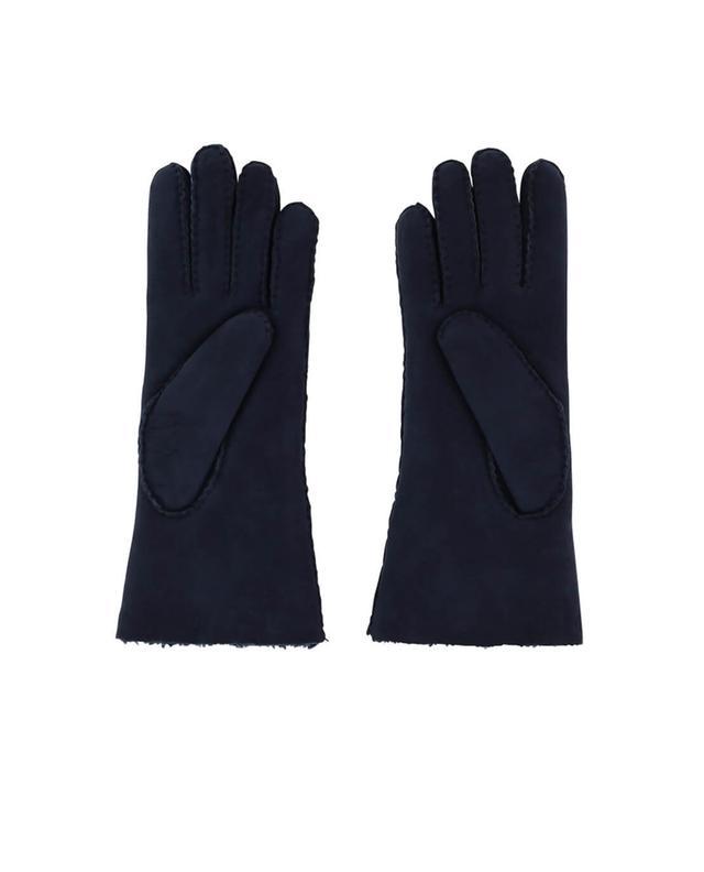 Agnelle handschuhe aus gewendeter lammhaut marineblau a47219