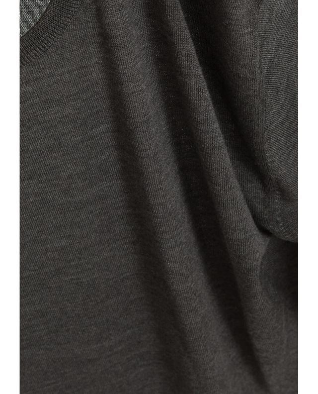 Baldassari pullover aus merinowolle und seide anthrazit