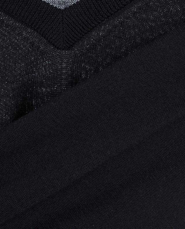 Baldassari pullover mit v-ausschnitt aus merinowolle und seide schwarz