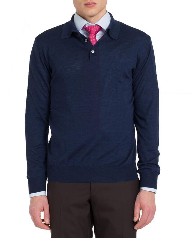 Merino wool and silk knit polo shirt BONGENIE GRIEDER