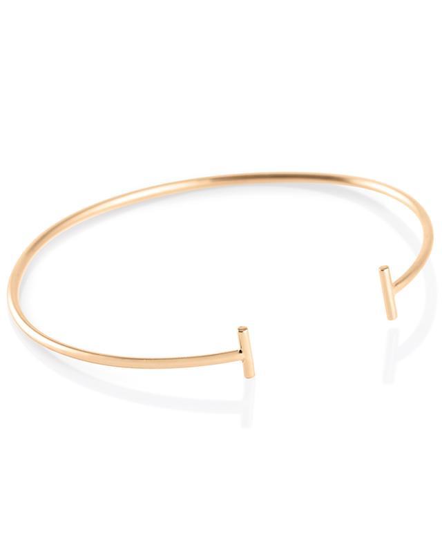 Gold Strip pink gold bangle GINETTE NY