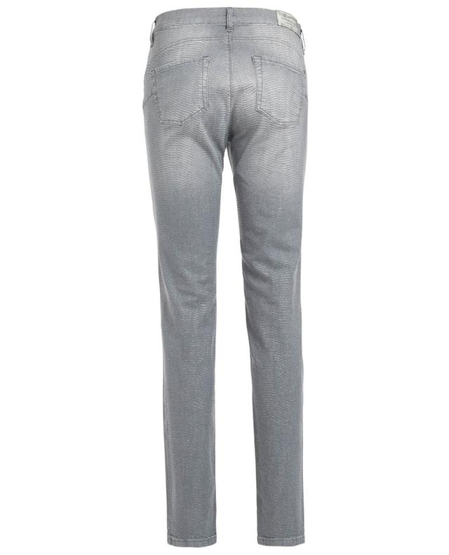 Raffaello Rossi Slim Jeans in Python-Optik Grau