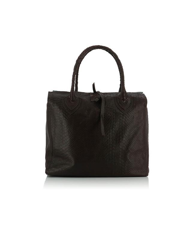 Let&her shopper aus leder medium vintage weinrot a50475