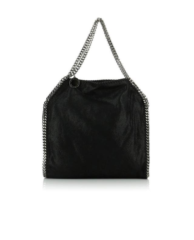 Stella mccartney falabella faux suede shoulder bag black