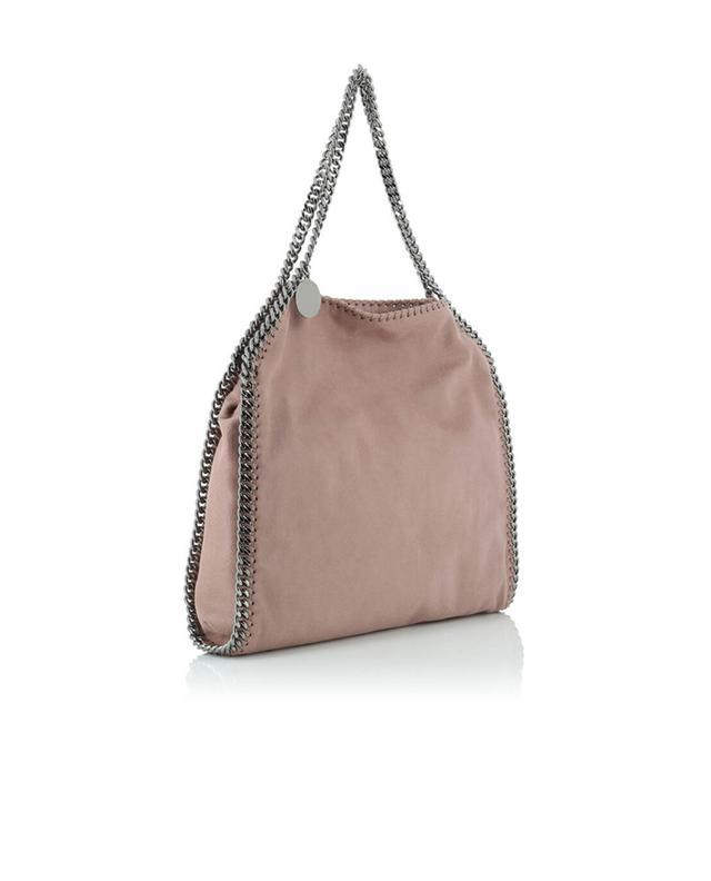 Stella mccartney sac porté épaule en daim synthétique falabella rose a53122