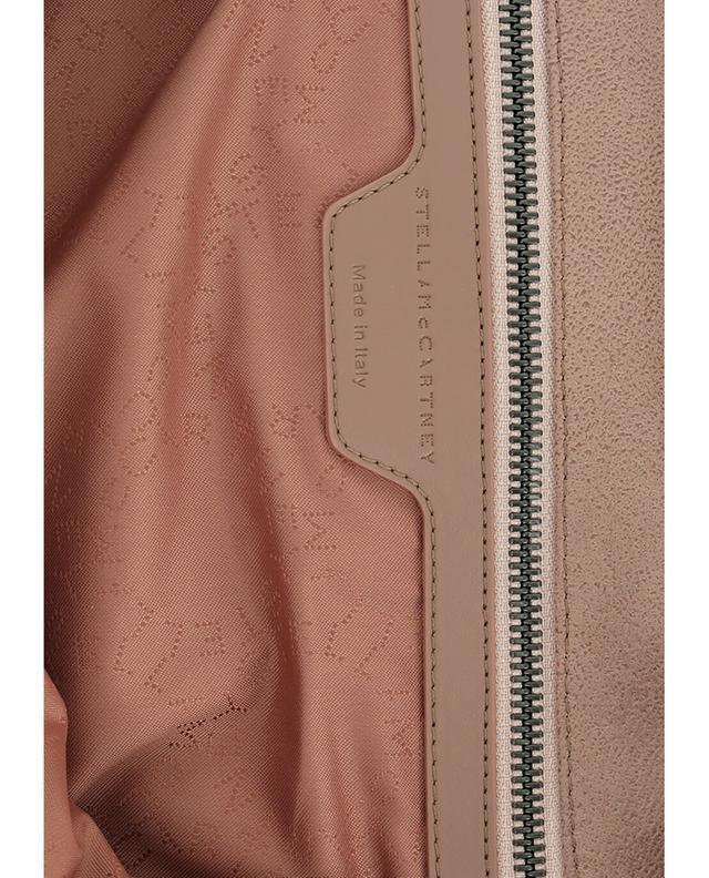 Stella mccartney sac porté épaule en daim synthétique falabella beigeclair
