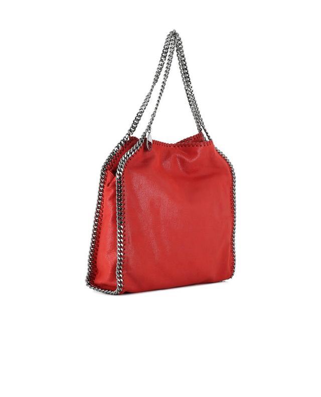 Stella mccartney falabella faux suede shoulder bag red