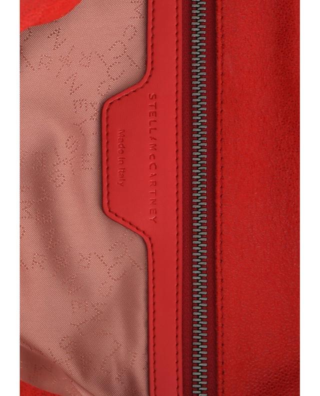 Stella mccartney sac porté épaule en daim synthétique falabella rouge