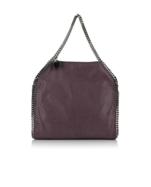 Stella mccartney schultertasche aus kunstwildleder falabella violett