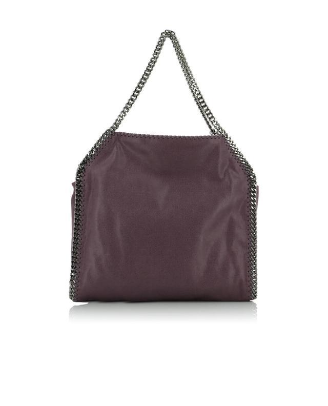 Stella mccartney falabella faux suede shoulder bag purple