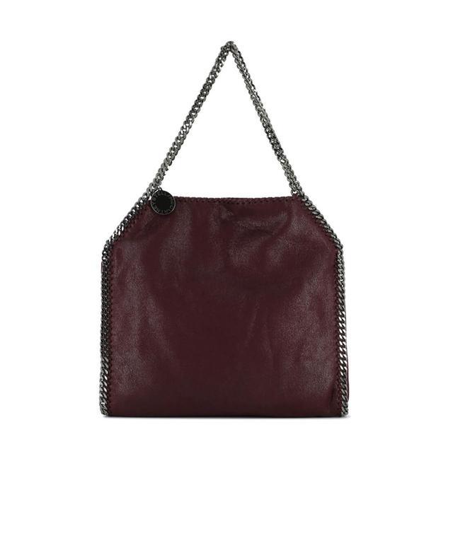 Stella mccartney falabella faux suede shoulder bag burgundy