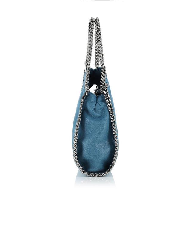 Stella mccartney kleine umhängetasche aus kunstwildleder falabella indigo