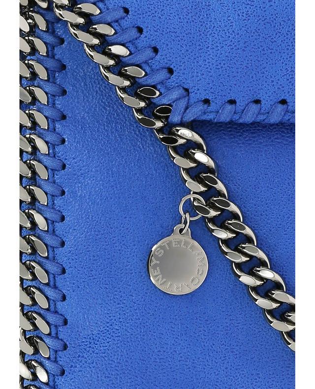 Stella mccartney kleine umhängetasche aus kunstwildleder falabella blau