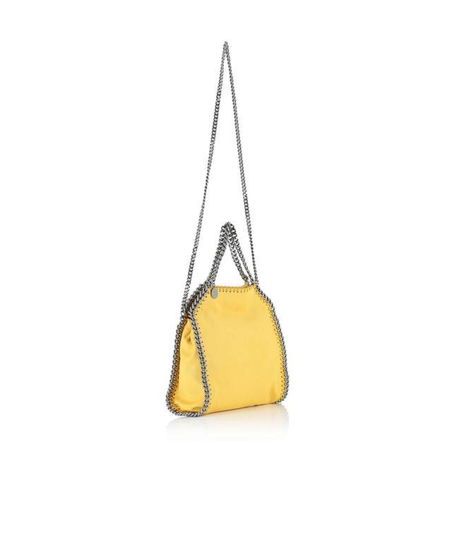 Stella mccartney kleine umhängetasche aus kunstwildleder falabella gelb