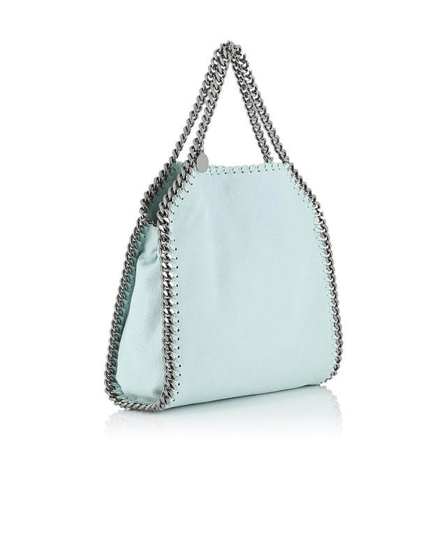 Stella mccartney petit sac porté épaule en daim synthétique falabella turquoise