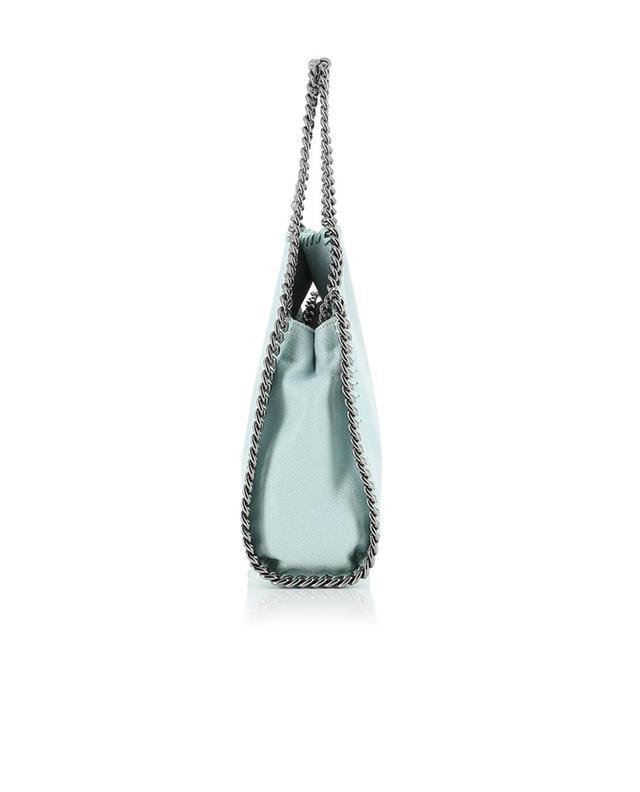 Stella mccartney kleine umhängetasche aus kunstwildleder falabella türkis