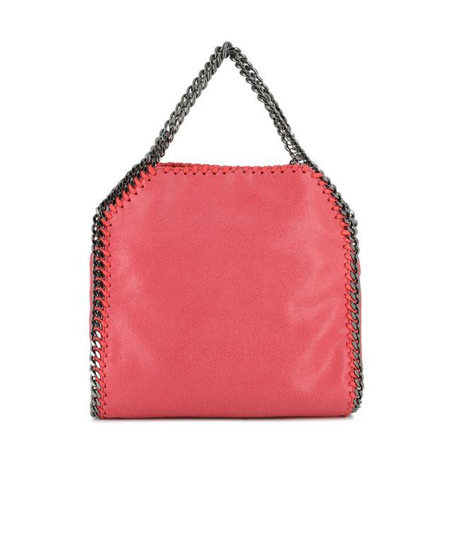 Stella mccartney petit sac porté épaule en daim synthétique falabella rose