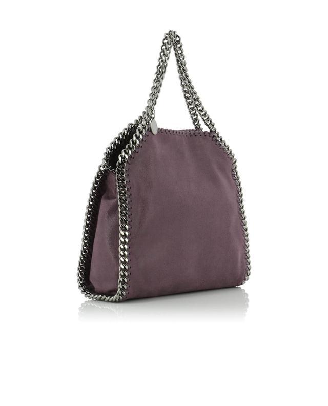 Stella mccartney petit sac porté épaule en daim synthétique falabella violet