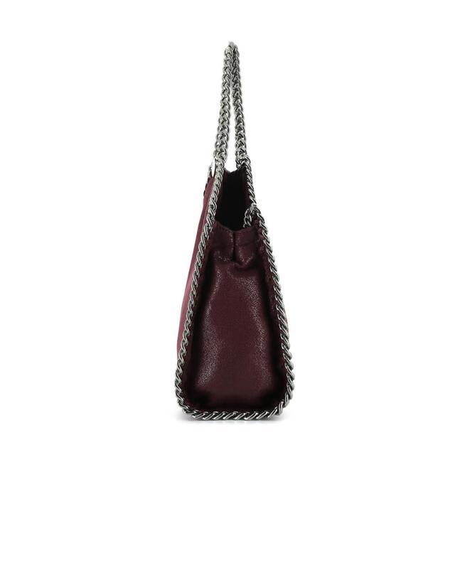 Stella mccartney petit sac porté épaule en daim synthétique falabella bordeaux