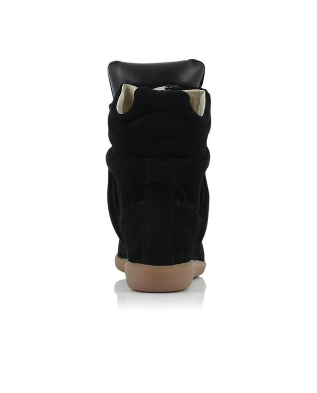 Isabel marant stiefeletten aus wildleder mit absatz schwarz