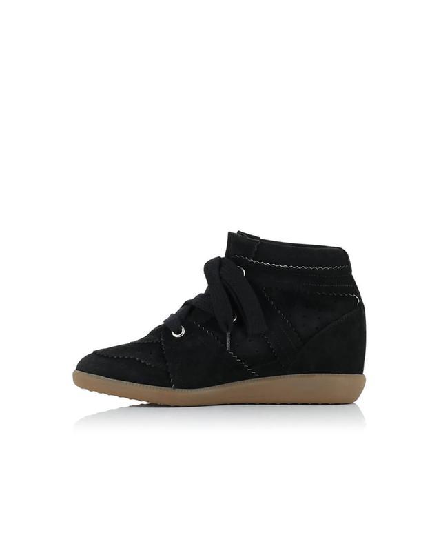 Isabel marant bobby wildleder keil sneakers schwarz a54068