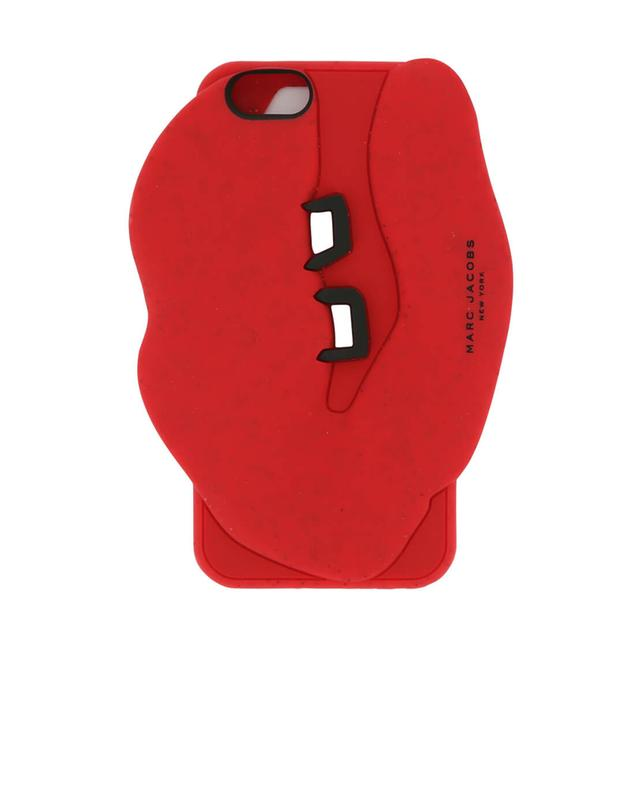 Marc by marc jacobs iphone cover aus silikon mit mund-motiv rot A57686-ROUG