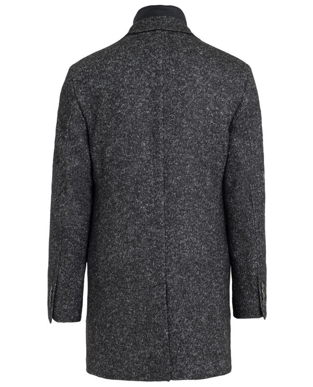 Wool and cotton blend coat with a removable vest FAY