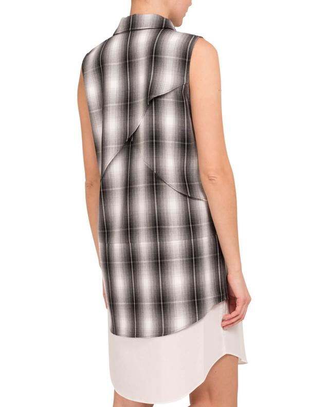 10 Crosby Robe chemise à carreaux Gris