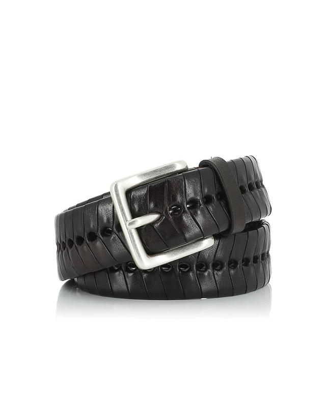 Woven leather belt SERGIO GAVAZZENI
