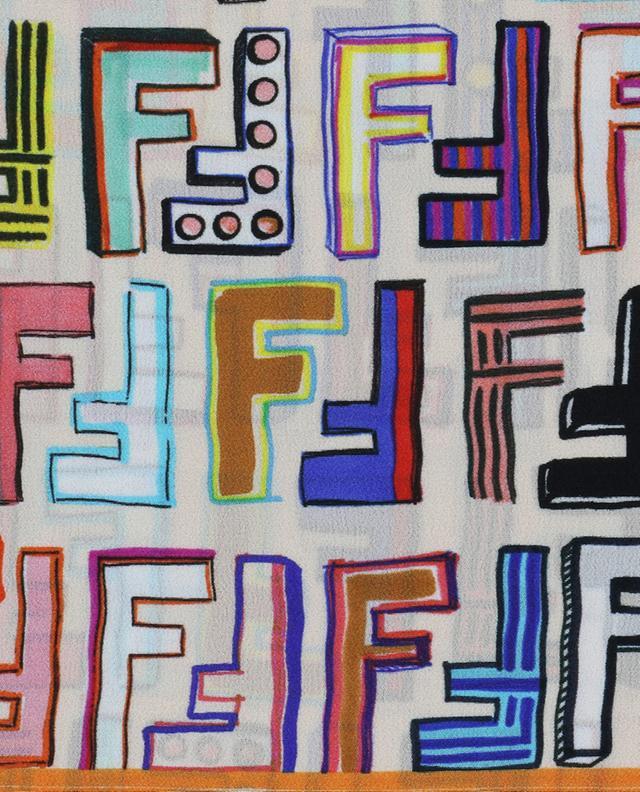 Foulard en soie Fun Fendi FENDI