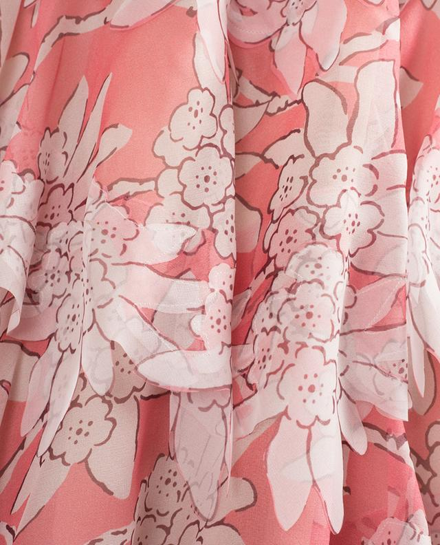 Robe courte en soie imprimée VALENTINO