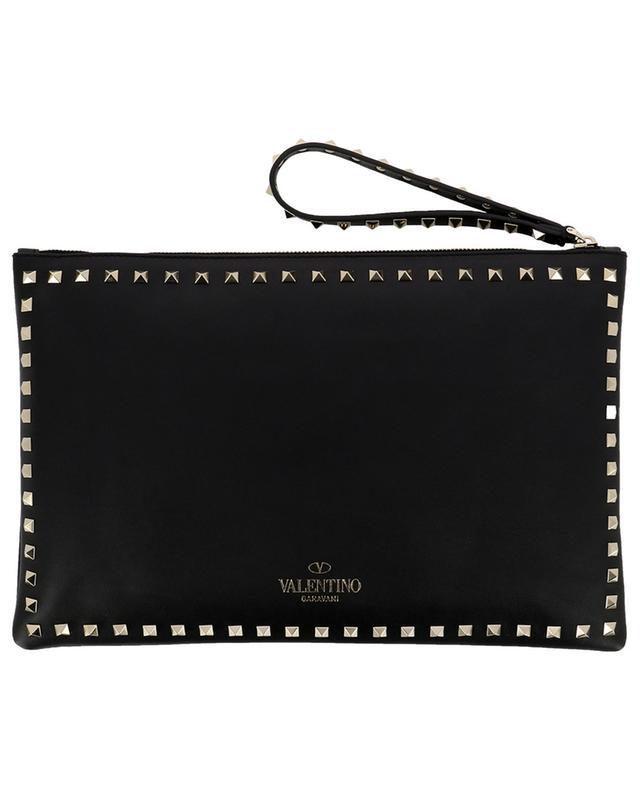 Rockstud large leather clutch VALENTINO