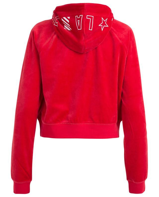 Cordial JCLA cropped velvet sweatshirt JUICY BY JUICY COUTU