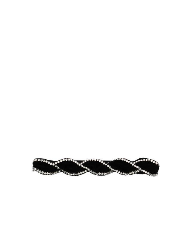 Stirnband aus Samt mit Kristallen GUCCI