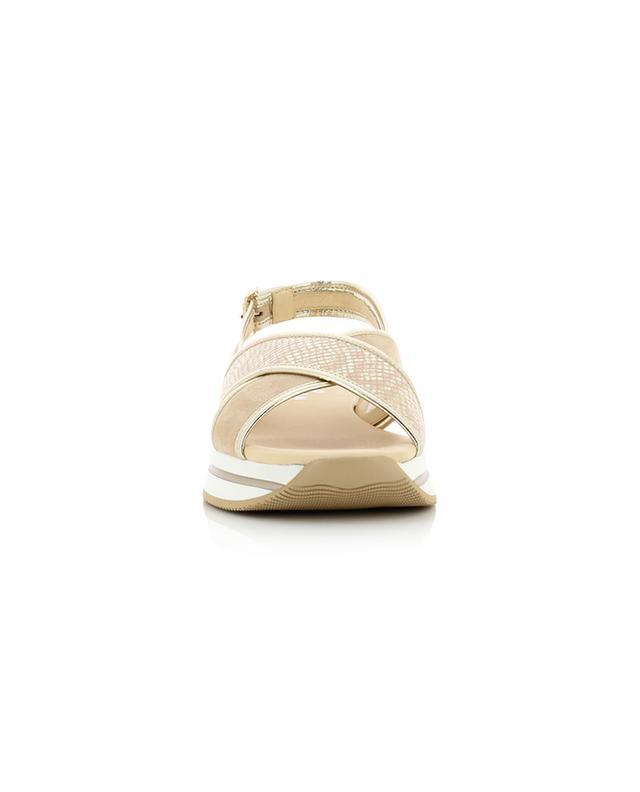 H257 suede sandals HOGAN