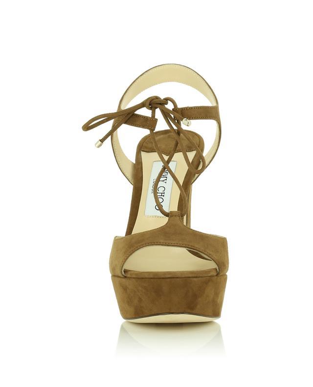 Sandales compensées en daim JIMMY CHOO
