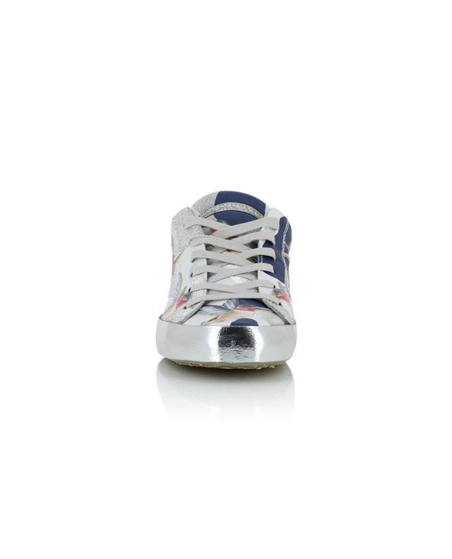 Sneakers aus Leder Paris Laminé Tropical PHILIPPE MODEL