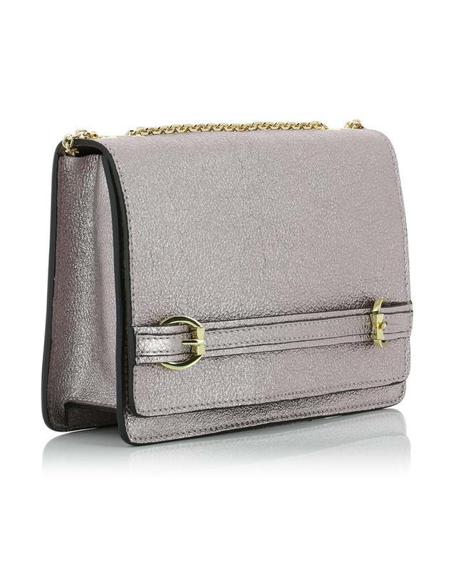 Metallic leather shoulder bag GIANNI CHIARINI