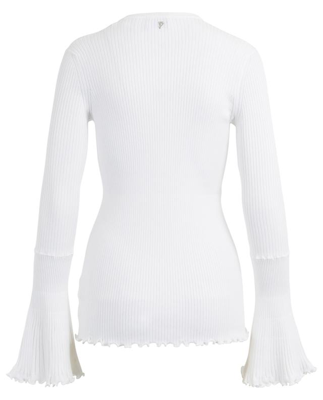Schmal geschnittener Pullover aus Viskosemix DONDUP