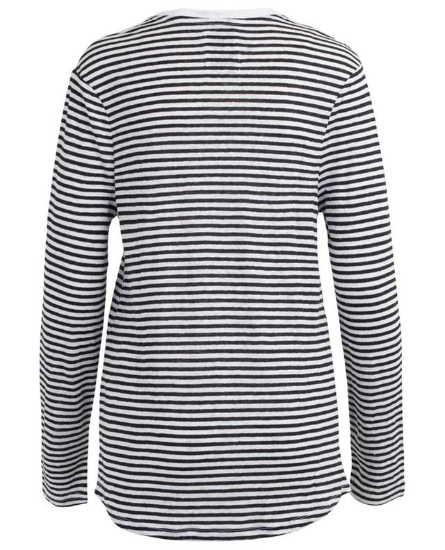 Foreign Affair striped linen top ZOE KARSSEN
