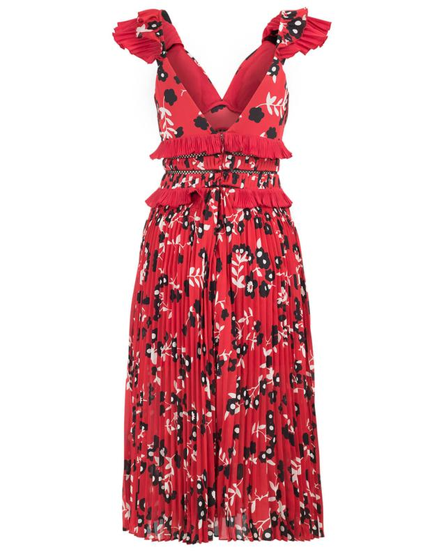 Kleid aus Crêpe Cold Shoulder Floral SELF PORTRAIT